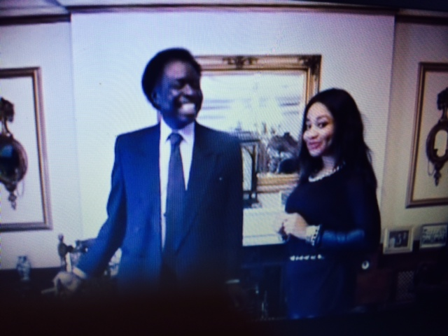 Princess Halliday recording on the showwith British Billionaire and surgical tutor to the royal college of surgeons London Mr Tithus Wole Odedun