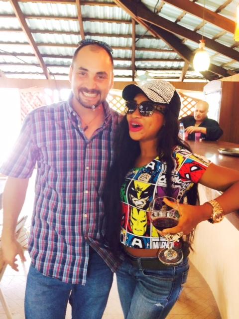 TV Host Princess Halliday and Italian Facilitator for Africa