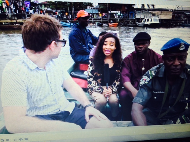 TV Host Princess Halliday and Team on the sea to visit the ESI facilities in Opobo Kingdom