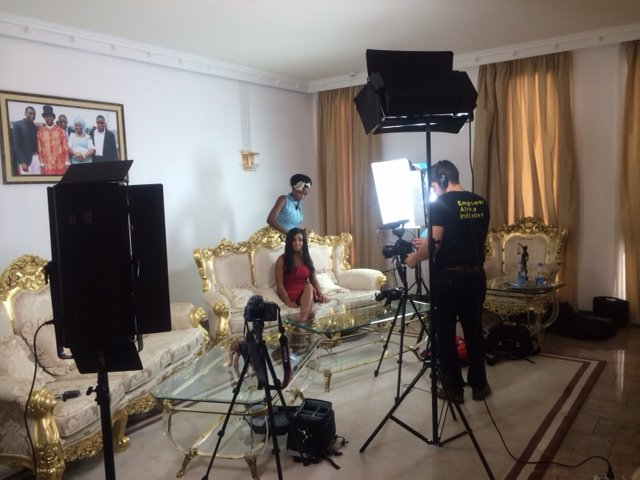 TV Host Princess Halliday - TV Studio Setup